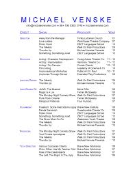 Technical Theatre Resume Sample - Starengineering