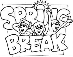 Spring Break Coloring Page Coloring Page Book For Kids