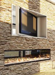 image of best gas double sided fireplace indoor outdoor