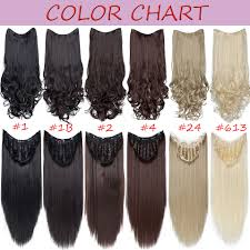 Clip In Hair Extension Length Chart Snoilite Upgrade Clip In One Piece Hair Extension U Part Extension Hair Synthetic Natural Hair Clip Ins Clip In Half Wig Brown