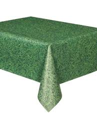 table covers for party grass print plastic cover supplies from birthday in a box round cloth decor