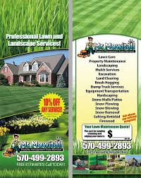Lawn Care Mowing Maintenance Door Hanger Lawn Care Landscaping