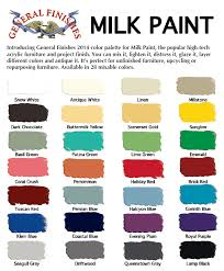 Favorite Color Chart Color Chart For General Finishes Milk Paint Which Is Your