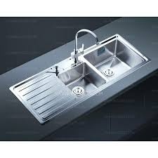 modern style double bowl kitchen sink with drainboard india p