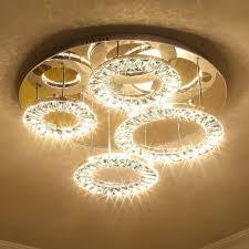 ceiling chandelier beautiful saint mossi modern k9 crystal led 4 ring chandelier lighting flush