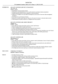Quality Resume Samples Quality Controller Resume Samples Velvet Jobs 44