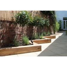garden design with sleepers. zig zag railway sleeper garden border design with sleepers
