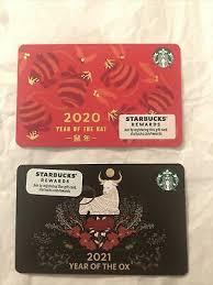 New year, new beginnings, new drinkware. Starbucks Card 2020 Chinese New Year Of The Rat Limited Edition New Unused Mint 1 99 Picclick