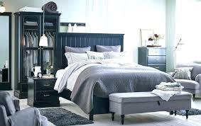 Ikea Bedroom Cupboards Furniture Bedroom A Large Bedroom With A Big Black  Bed Standing In The . Ikea Bedroom Cupboards ...