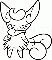 Small Picture Meowstic Pokemon Coloring Page Kadience Pinterest Pokemon