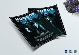 Thrilling Horror Movie Night Flyer Design Template In Psd Word