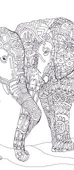 Small Picture Elephant Clip Art Coloring pages Printable Adult Coloring book