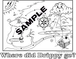 Small Picture Drippy the Raindrops FREE Water Cycle fun trial site