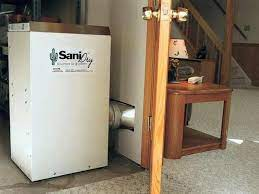 a dehumidifier being vented into a