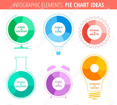 Flat Thin Line Infographic Template Pie Chart Ideas Concept