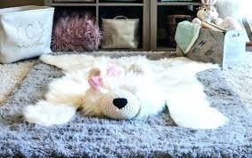 bear rug fake for nursery faux polar woodland baby room decor animal skin bear rug fake