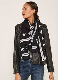 black star border scarf 39 00