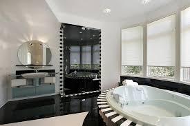 view in gallery shower stall zebra tiles
