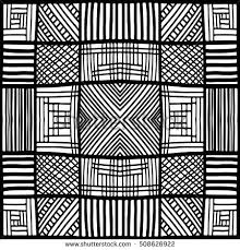 Easy Zentangle Patterns Impressive Zentangle Pattern Squares Pattern Simple Zentangle Stock Vector