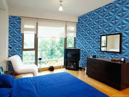 Decorative 3D Wall Panels Blue Decor