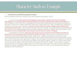 notes on character analysis ppt video online character analysis example