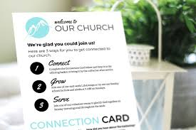 Church Welcome Brochure Samples Free Design Template Connection Card Churchly