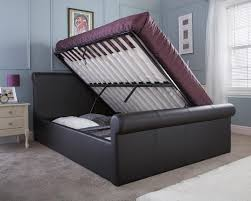 Milan Bedroom Furniture Milan Bed Company Carolina 5ft Kingsize Leather Ottoman Bedstead