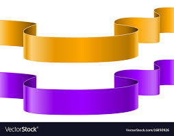 Purple Ribbon Banner Orange And Purple Ribbon Banners