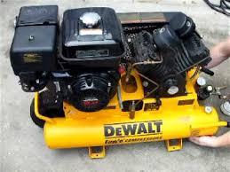 dewalt compressor. dewalt d55271 8 horsepower 8-gallon oiled twin pontoon gas compressor - youtube dewalt p