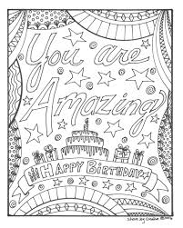 Happy birthday happy birthday birthday coloring card happy birthday dear husband happy birthday happy 3rd birthday happy birthday how to personalize a birthday card. Happy Birthday Coloring Page You Are Amazing Printable Etsy In 2021 Happy Birthday Coloring Pages Birthday Coloring Pages Mom Coloring Pages