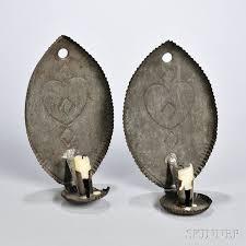 primitive lighting ideas. Pair Of Tinned Sheet Iron Wall Sconces Primitive Lighting Ideas C