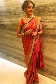 the ravishing red bridal saree