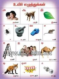 Alphabets In Tamil Chart