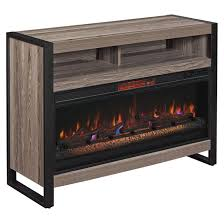 electric fireplace infrared heat 1 000 sq ft oak