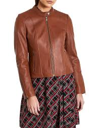 iman leather jacket image 1