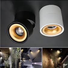 360 Rotating Spot Light Lamp Details About Modern 360 Degree Rotation Led Cob Ceiling Light Spotlight Fixture Lamp