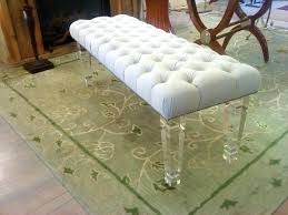 bench with lucite legs. Exellent Lucite Bench Upholstered With Lucite Legs Full Size In T