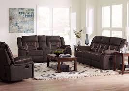acropolis reclining sofa set brown
