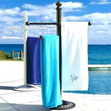 pool towel holder poolside rack stand outdoor wood intended for design 5 diy pool towel holder