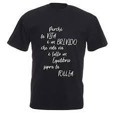 T Shirt Maglietta Personalizzata Stampa Poesia Vasco Amazonit