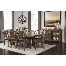 gray dining room table. Tamilo Gray/Brown Rectangular Extendable Dining Room Set Gray Table