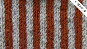 The Simple Vertical Stripes Stitch :: Knitting Stitch #528 :: Right Handed  - YouTube
