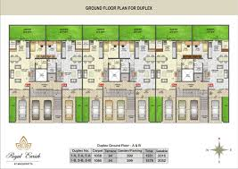 royal enrich row house floor plan