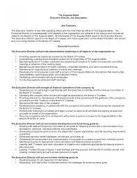 Executiver Job Description Template Executive Director Resume Sle