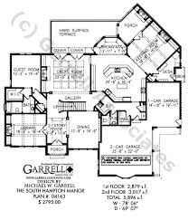 south hampton manor house plan 04163 1st floor plan