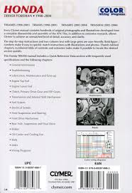 research claynes clymer honda trx450 foreman 1998 2004 service 205 205b 205p