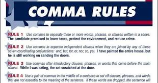 When To Use Comma Hoofprint Press Writing 1103 Punctuation