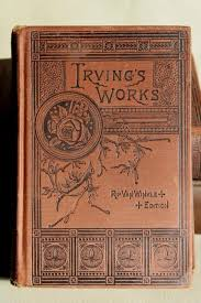 mark twain washington irving antique gold embossed victorian era art binding book covers