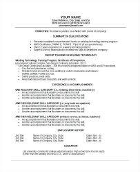 Welding Resume Objective Best of Sample Welder Resume Resume Letter Collection