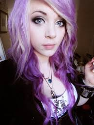 purple hair emo the